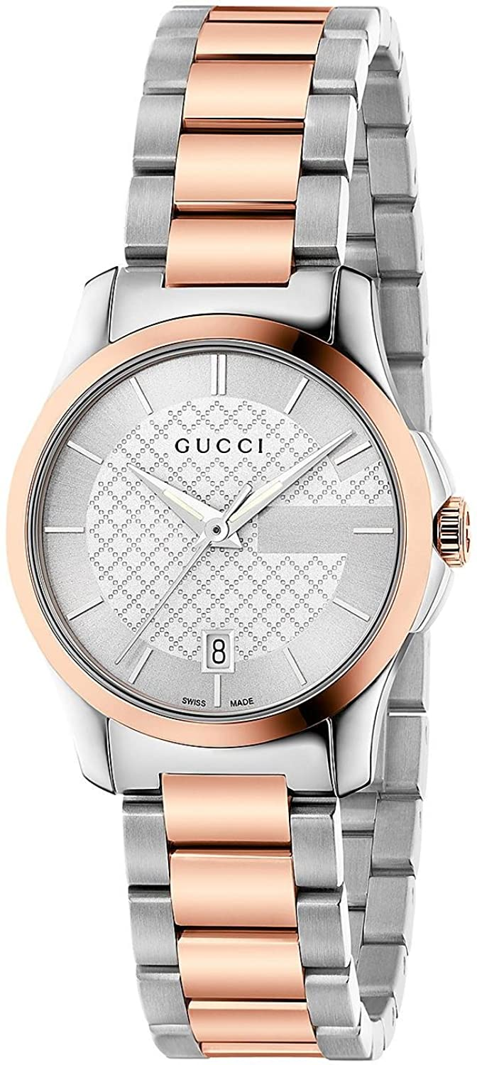 7bf94a3d0df Gucci Women s YA126528 G-timeless Two-tone Stainless Steel Watch for ...