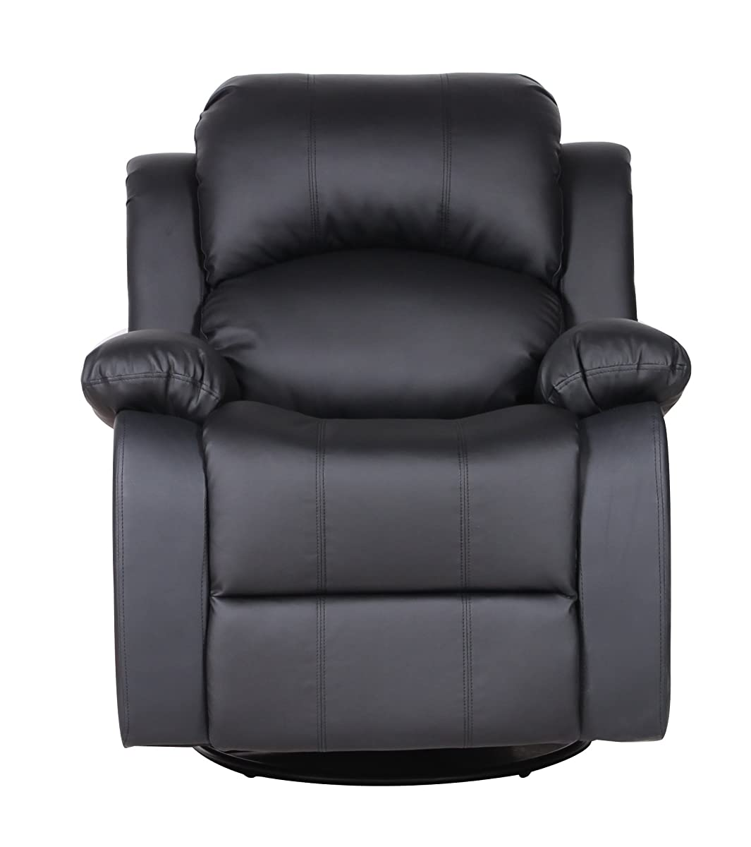 leather swivel chairs for living room bonded leather rocker and swivel recliner living room 24170