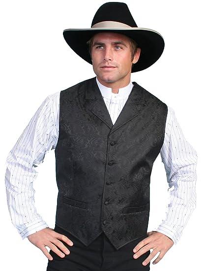 Victorian Men's Vests and Waistcoats Paisley Button Vest  AT vintagedancer.com