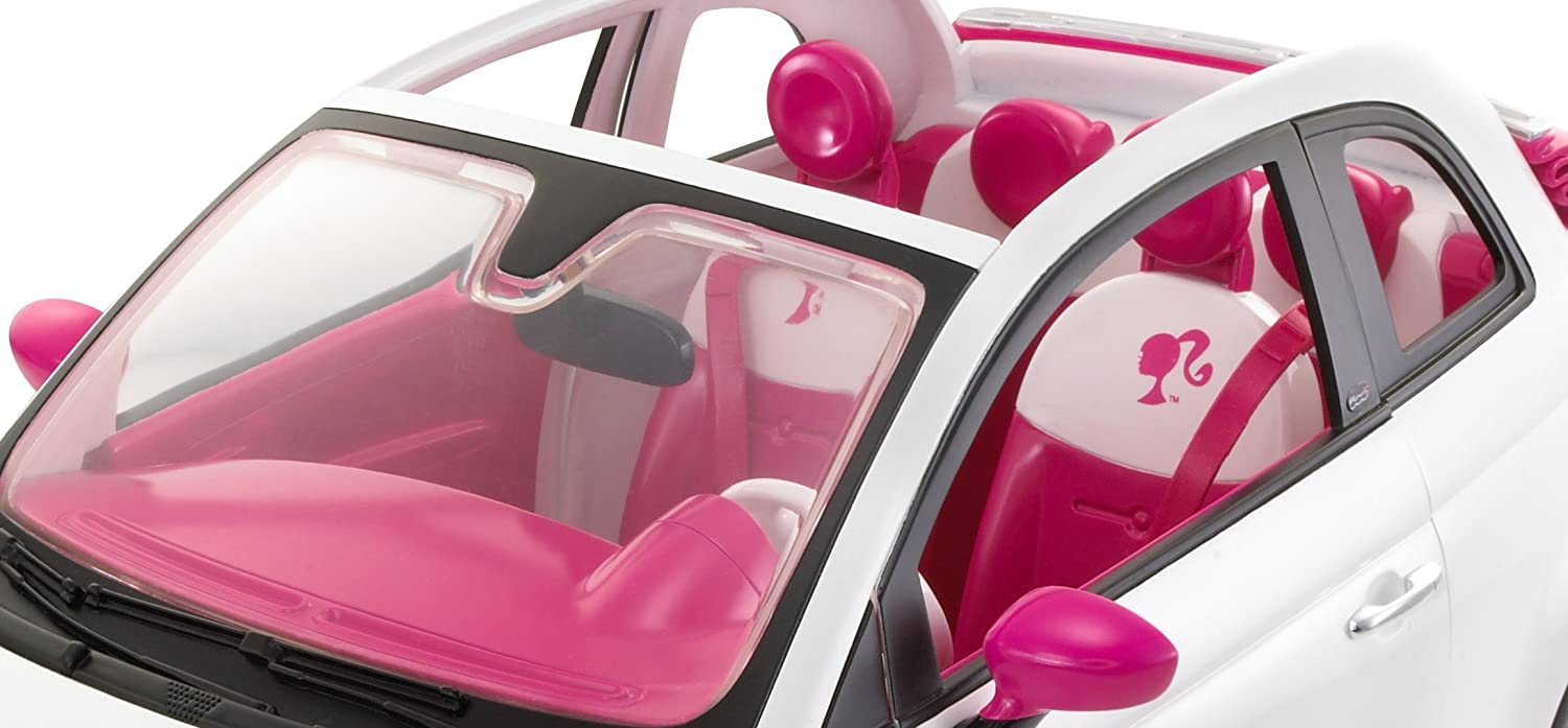 voiture fiat 500 blanche barbie. Black Bedroom Furniture Sets. Home Design Ideas