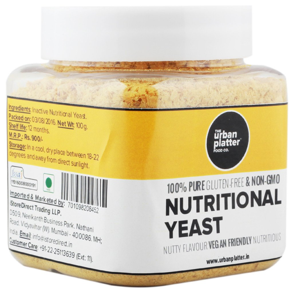 Non fortified nutritional yeast