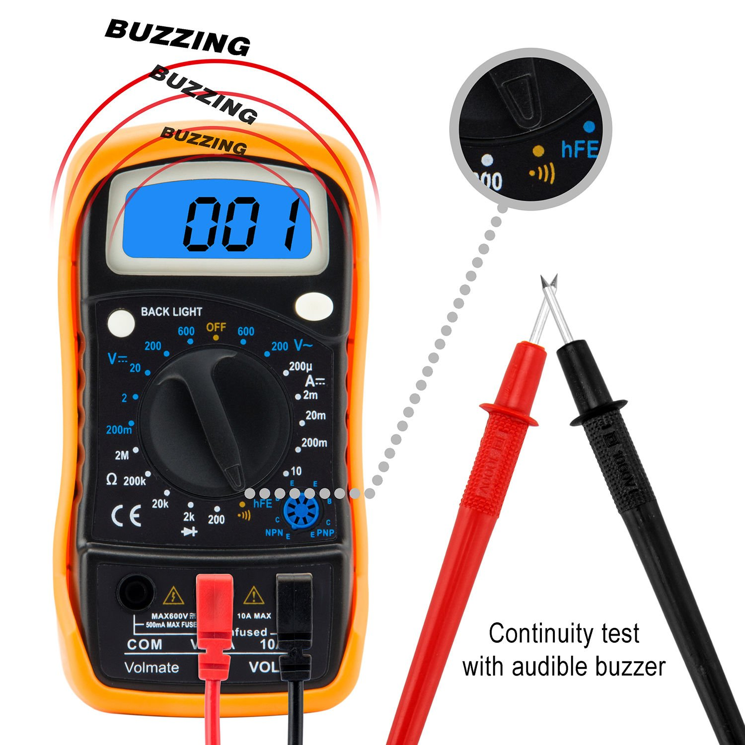 how to read digital ammeter