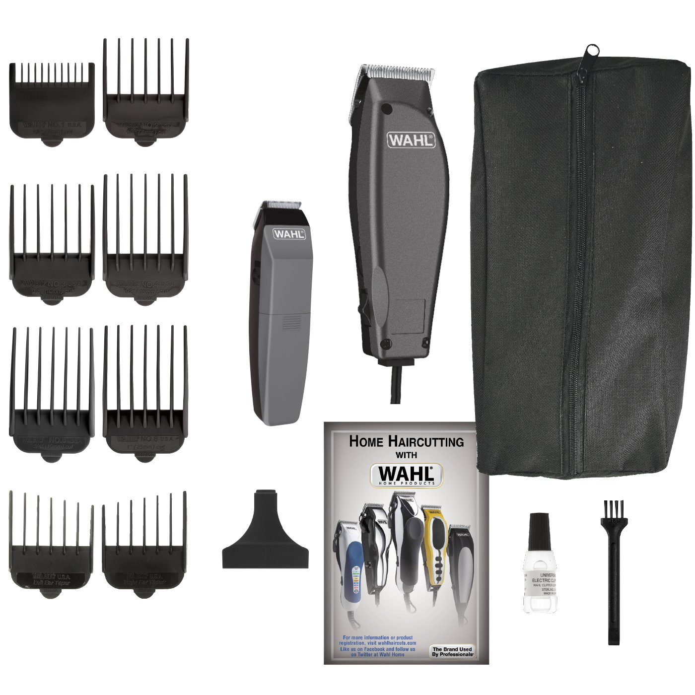 wahl haircutting kit new wahl professional hair clipper kit 14 barber 1565