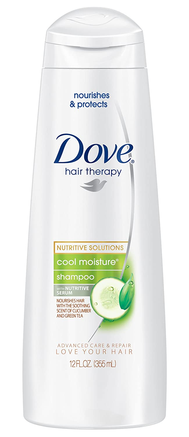 Dove Damage Therapy Cool Moisture Shampoo, Cucumber and Green Tea, 12 Ounce