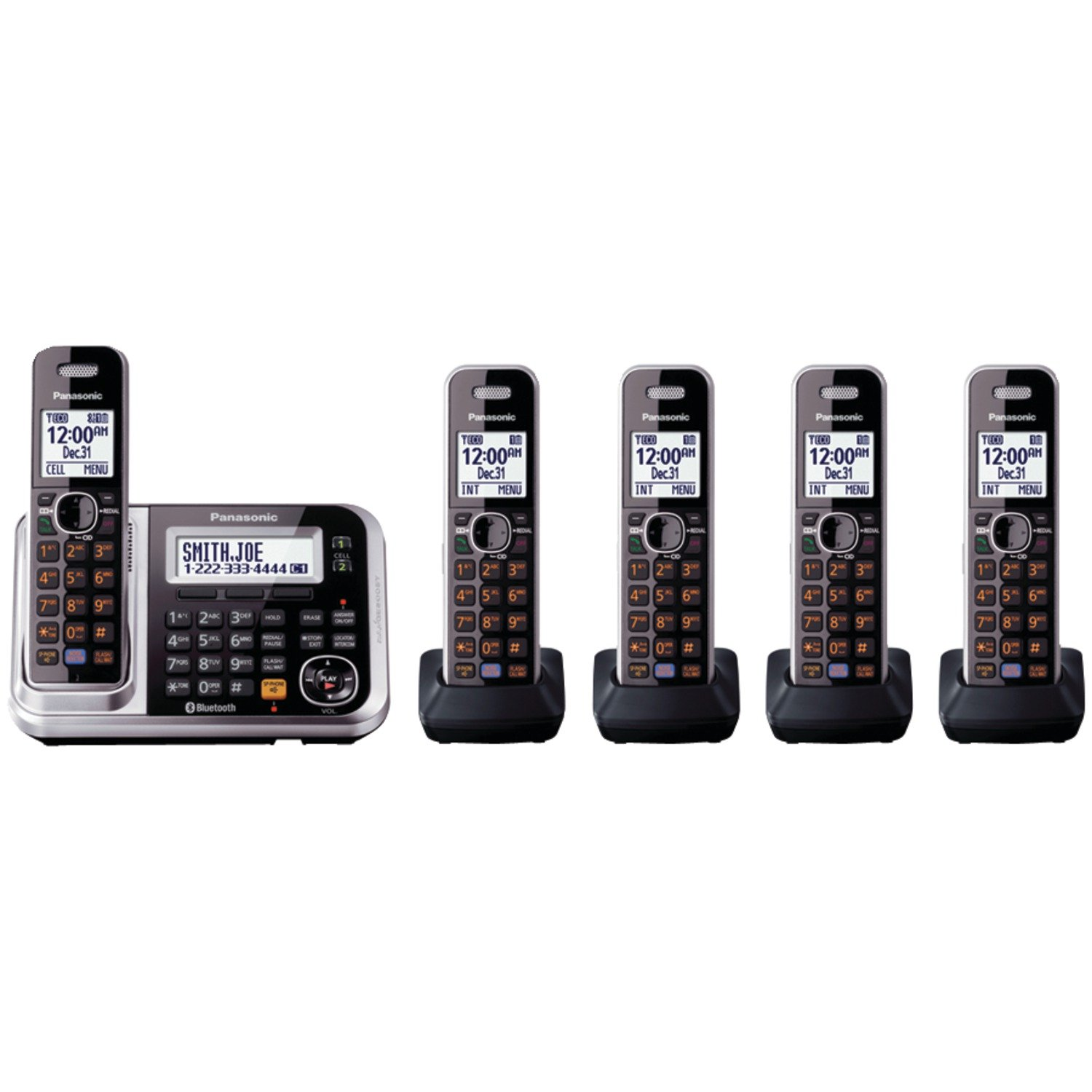 New panasonic kx tg7875s link2cell bluetooth dect 60 5 handest 885170106246 sciox Choice Image