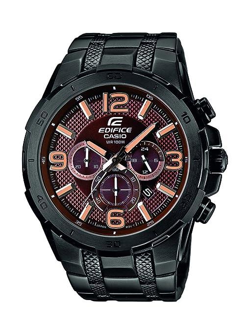 Casio EFR-538BK-5AVUEF - Reloj de pulsera hombre, acero inoxidable, color negro