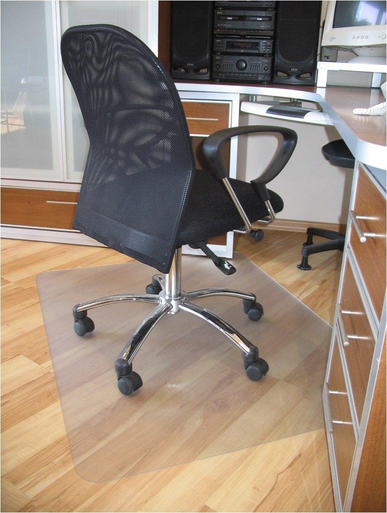 "ProSource 47"" x 35"" Clear Multitask Polycarbonate Office Chair Floor Mat for Hardwood Floors (47"" x 35"" Rectangular)"