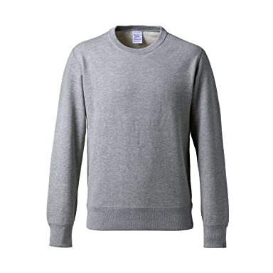 Loopwheeler Crewneck Sweat Shirt: Grey
