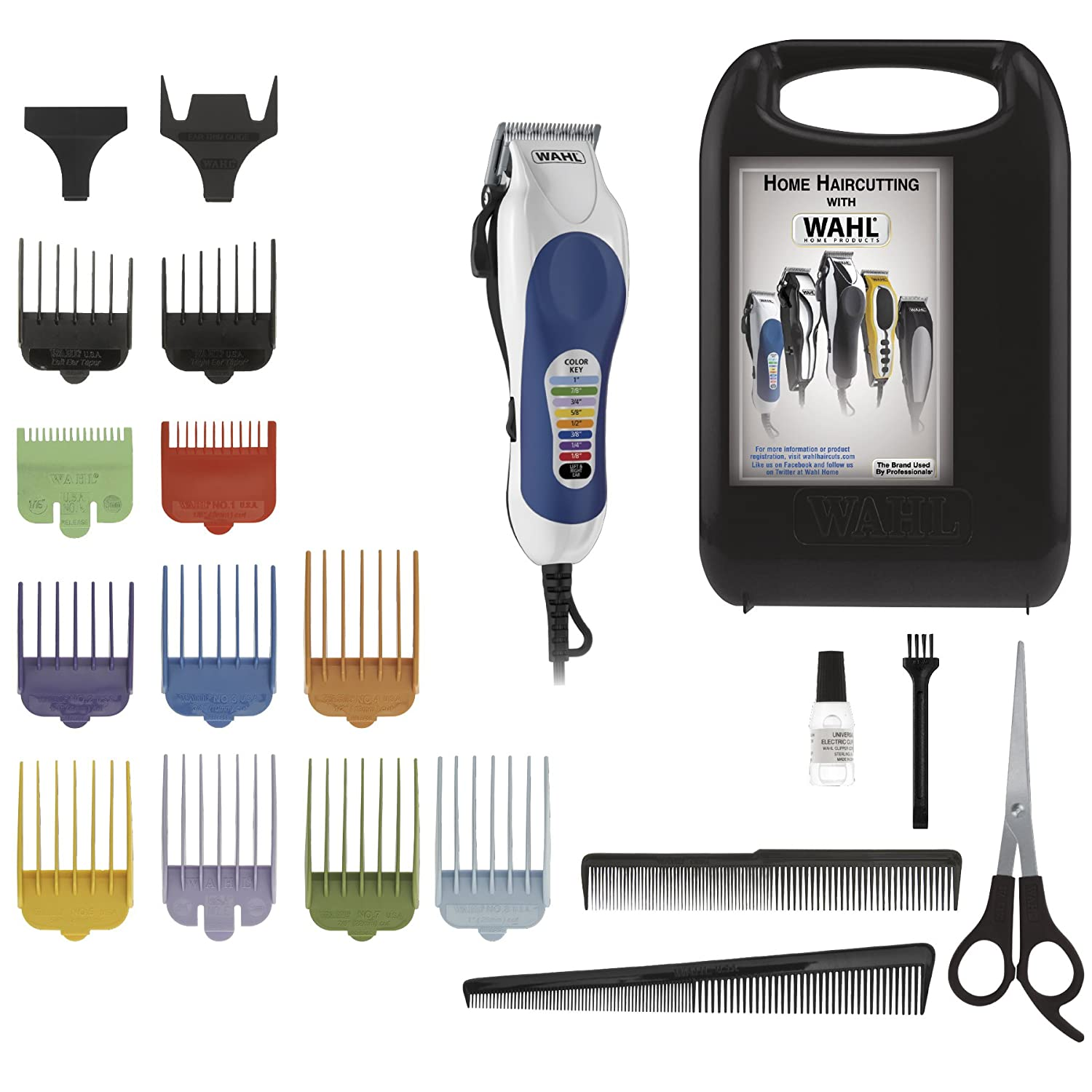 professional haircut clippers wahl color pro 20 complete haircutting kit self 5649 | 8126BSjYdfL. SL1500