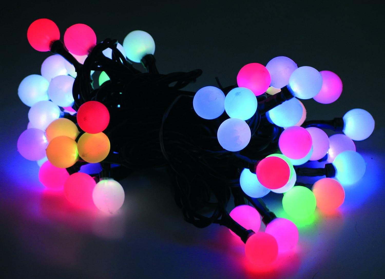 50 LED Wunderschöne 6 Farbige Lichterkette Partylichterkette Farbwechsel Design