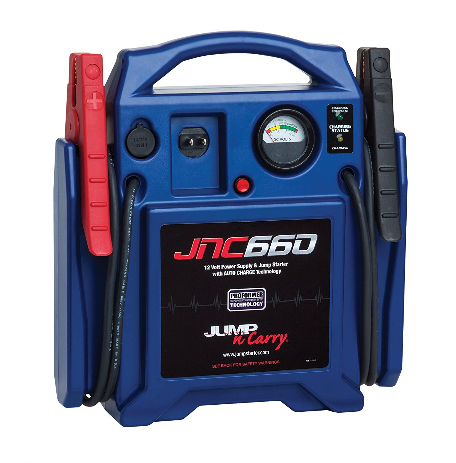 Clore Automotive JNC660 Jump-N-Carry 1,700 Peak Amp 12-Volt Jump Starter