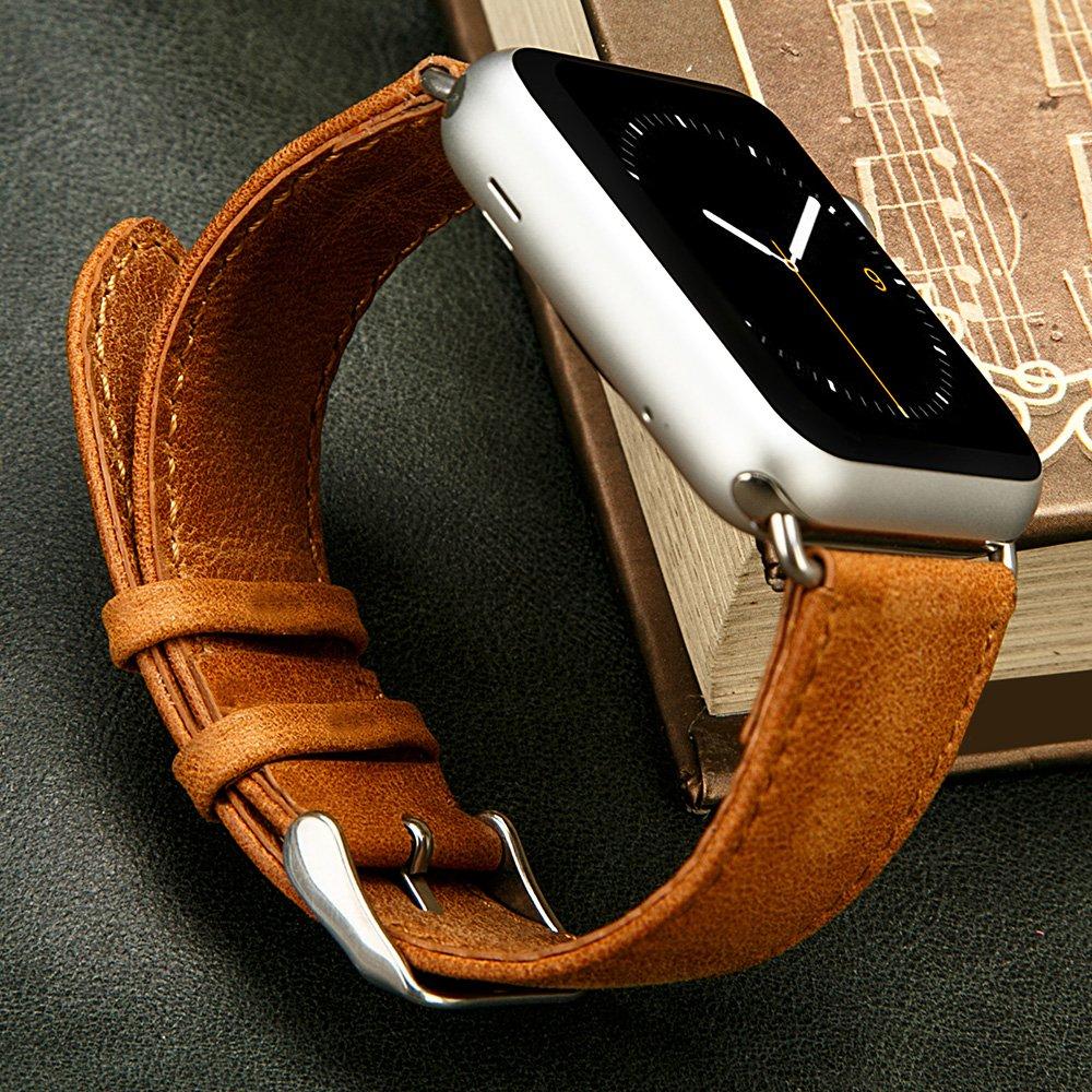 Jisoncase Echtleder Armband für Apple Watch – Apple Watch Armband Test Januar 2016