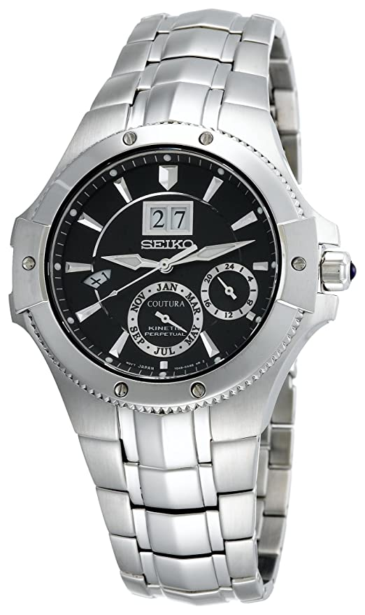 Best Watches Under 500 - Seiko SNP007 Coutura Kinetic Perpetual Watch for Men