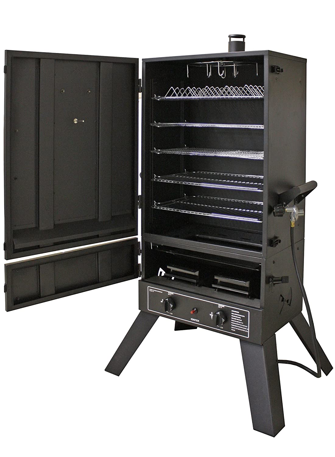 Gas smoker with good stand