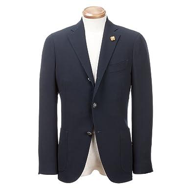 Wool Hopsack Jacket: Navy
