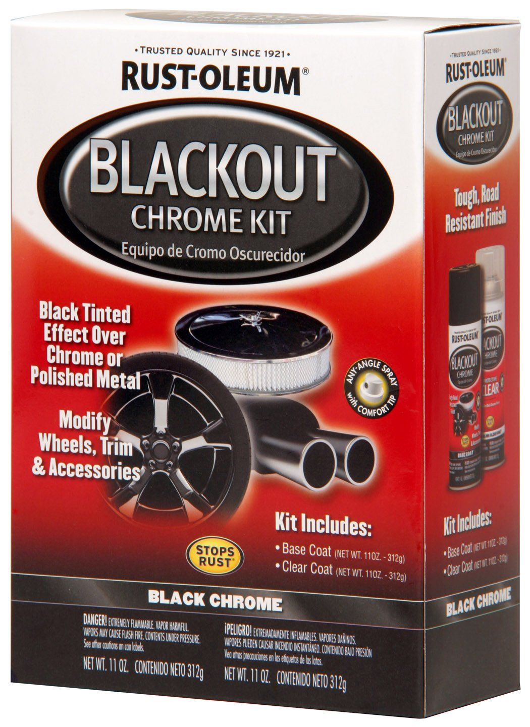 Blackout chrome for kidney grille and window trim chrome