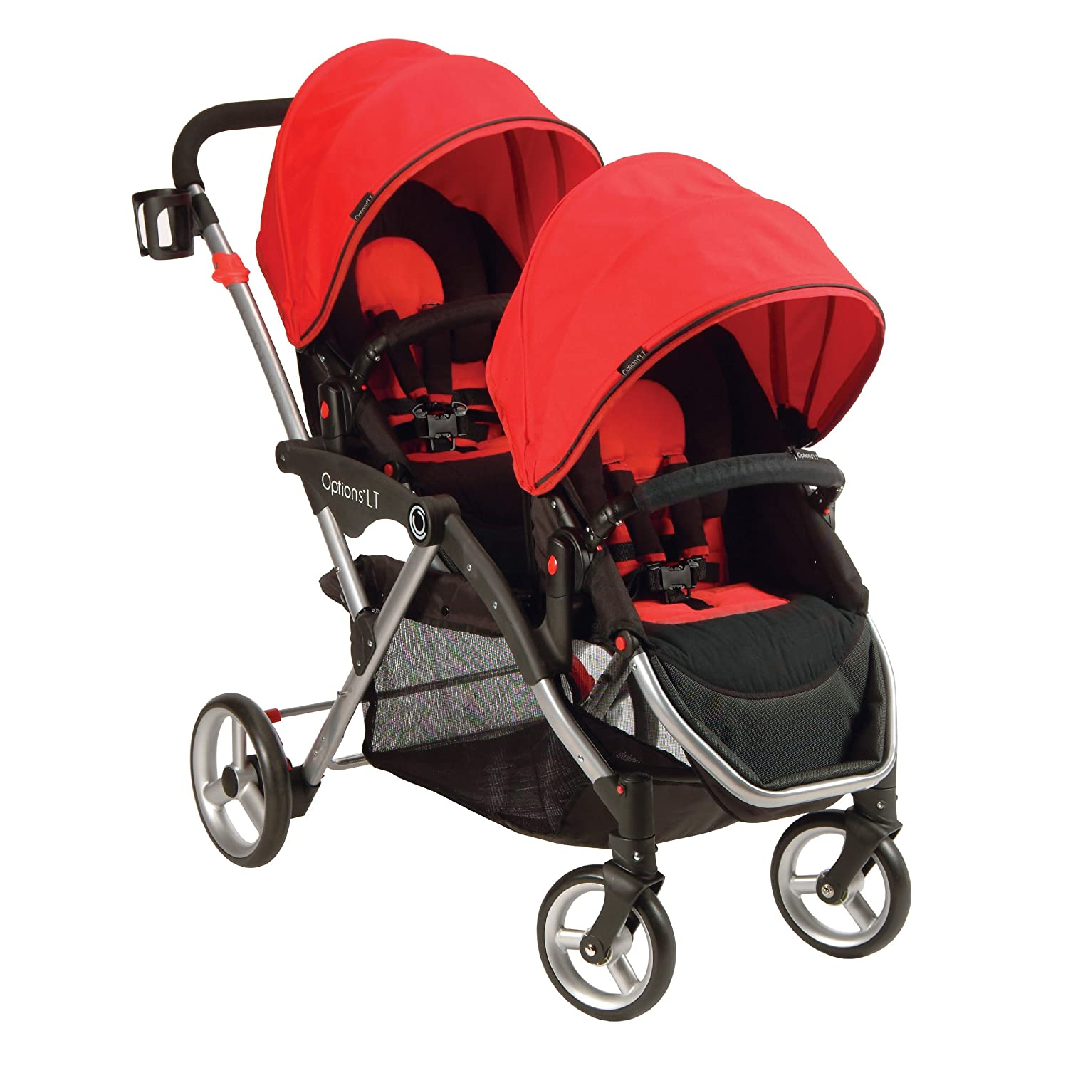 Kolcraft Countours Option Tandum Stroller in Ruby