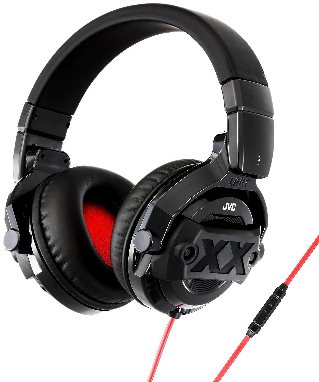 JVC DJ - Auriculares de diadema para DJ, color negro
