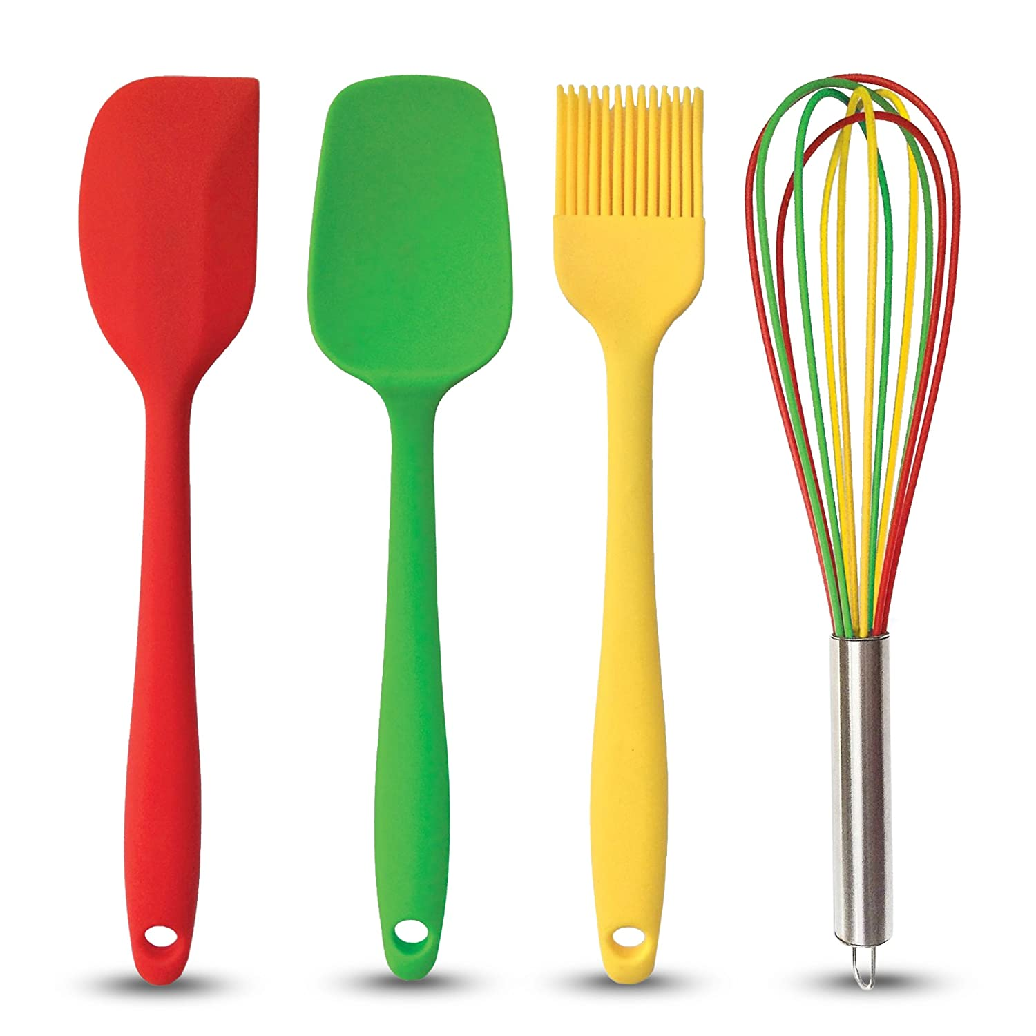 Brightly Colored Silicone Kitchen Tools