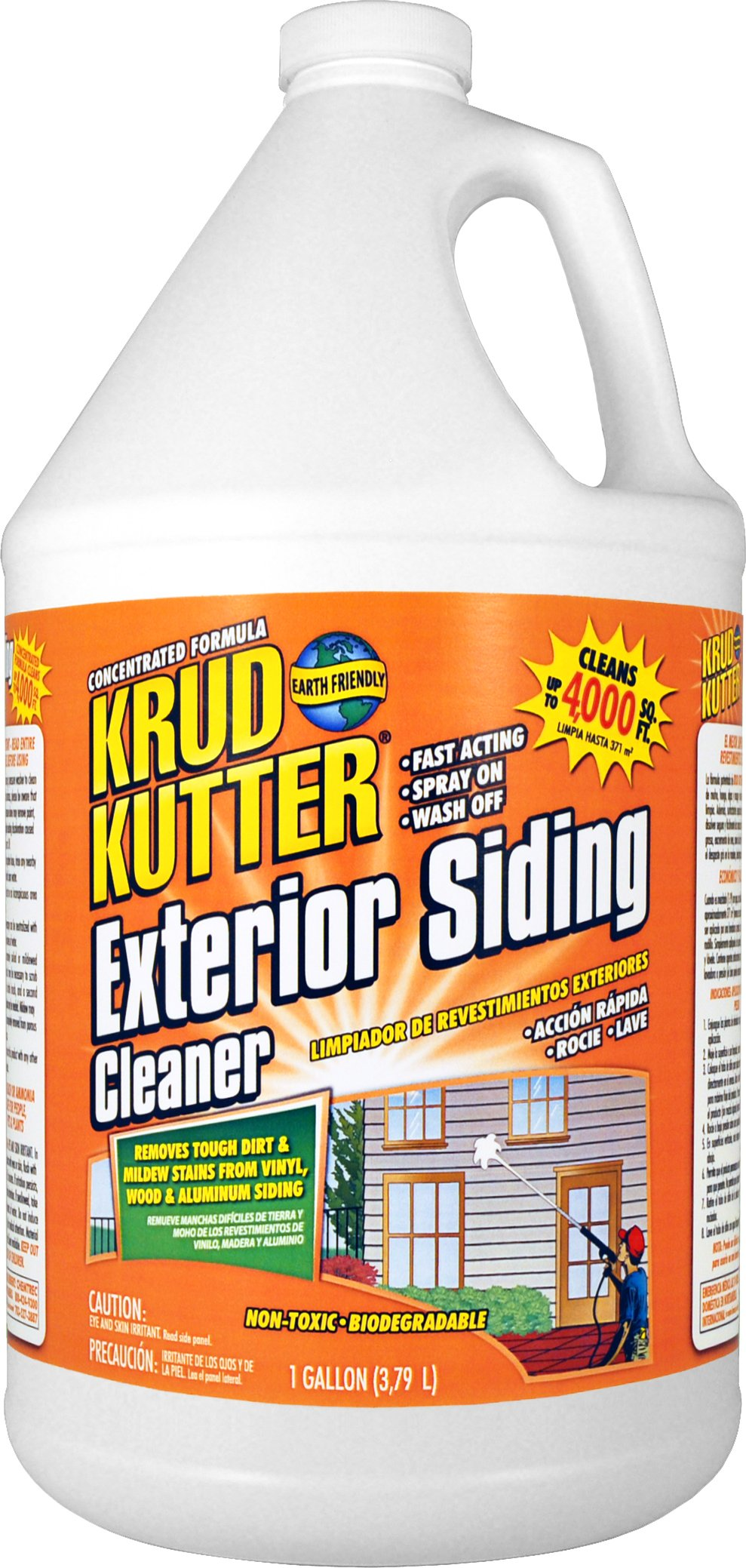 Krud Kutter ES01 Clear Exterior Siding Cleaner with Mild Odor, 1 Gallon