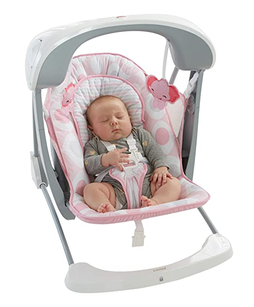 Fisher Price Deluxe Take Along Swing And Seat, Pink/White