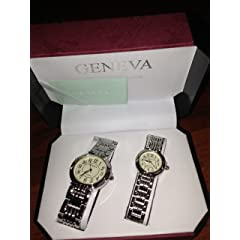 Geneva His and Hers Wrist Watches (Classic Collection)