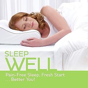 Sleep Innovations Contour Memory Foam Pillow