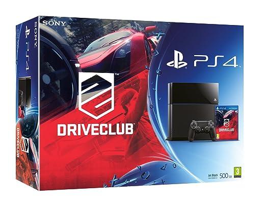 PlayStation 4 - Consola 500 GB, Color Negro + DriveClub