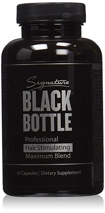 Black Bottle Hair Growth Support Vitamins
