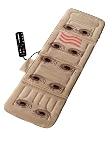 Comfort Products 60-2907P08 10-Motor Massage Plush Mat with Heat