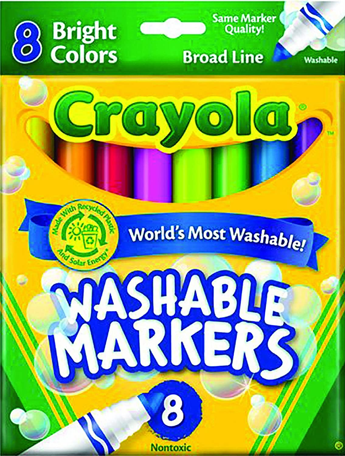 Crayola 8 Count Washable Bright Markers