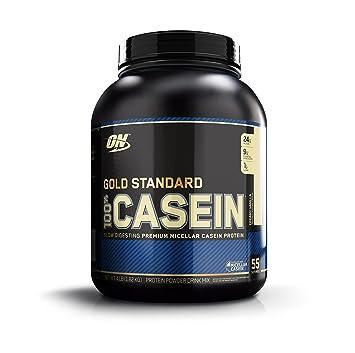 Optimum Nutrition 100% Casein Protein, Creamy Vanilla, 4 Pound
