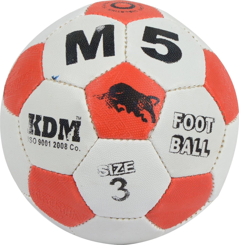 KDM M 5 Rubber Football, Size- 3 (Multi-Coloured)