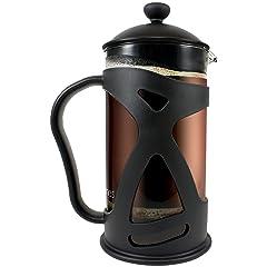 KONA French Press ~ Best Coffee Tea & Espresso Maker with 34-Ounce Heat Resistant Glass, Black