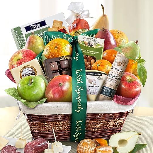 Golden State Fruit Gourmet Abundance Gift Basket, Sympathy