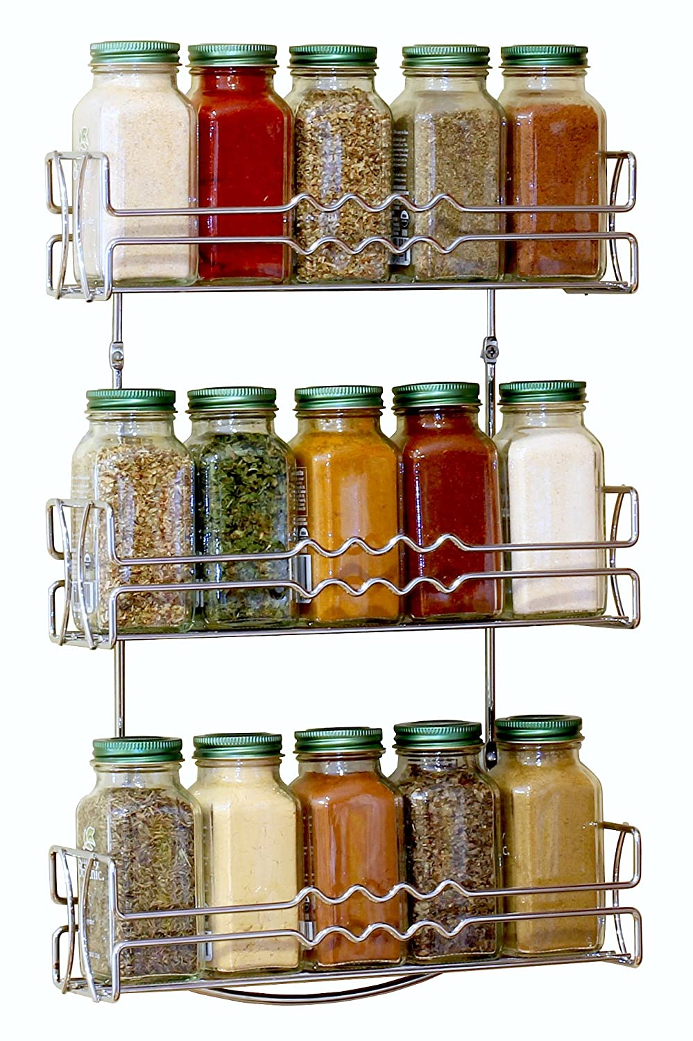 wall mounted kitchen storage rack spice rack kitchen organizer wall mount chrome decorative 8880