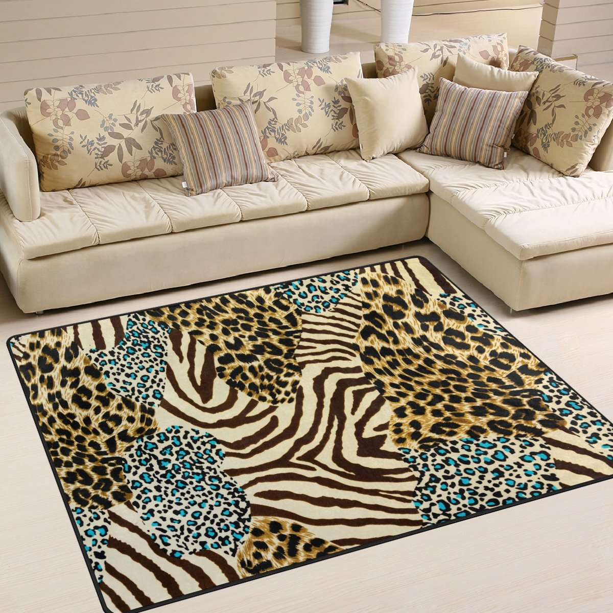 leopard print rug living room alaza animal zebra leopard print area rug rugs for living 19554