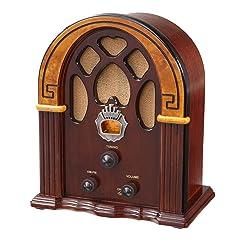 Crosley CR31-WA Companion Retro AM/FM Radio with 1 Full-Range Speaker