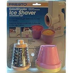 Presto Salad Shooter Ice Shaver Accessory Set