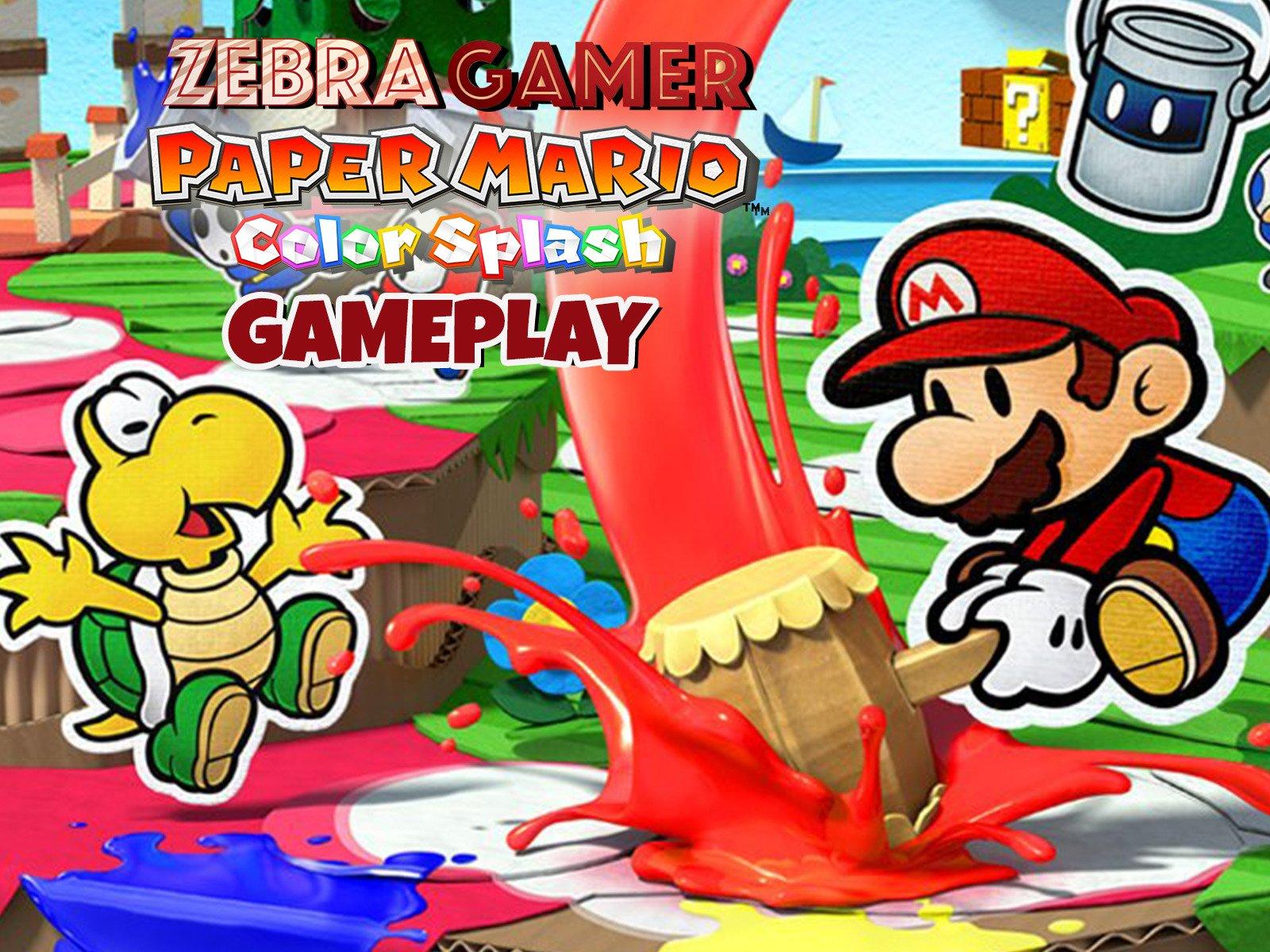 Watch Paper Mario Color Splash Gameplay On Amazon Prime Video Uk
