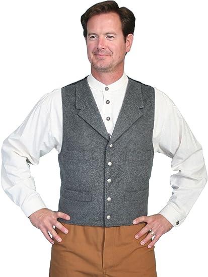 Victorian Men's Vests and Waistcoats 4-Pocket Wool Vest  AT vintagedancer.com