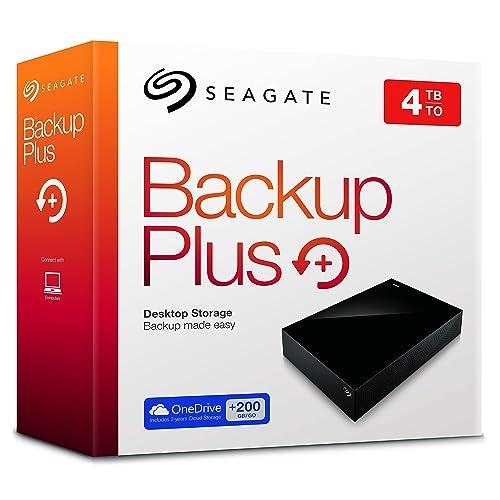 Seagate Backup Plus Desktop STDT4000200 - Disco duro externo de 4 TB, color negro