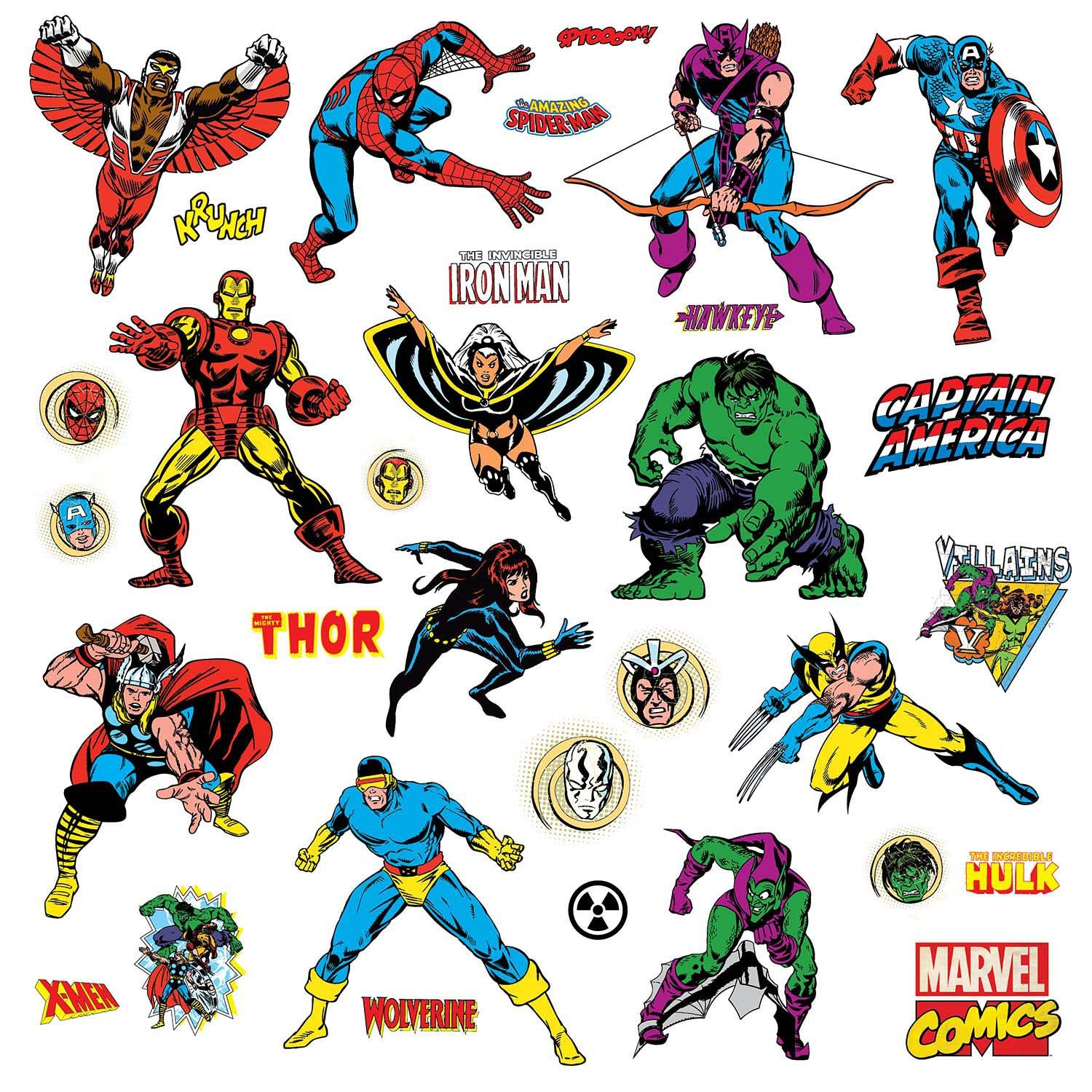 Marvel Character Peel And Stick Wall Decals