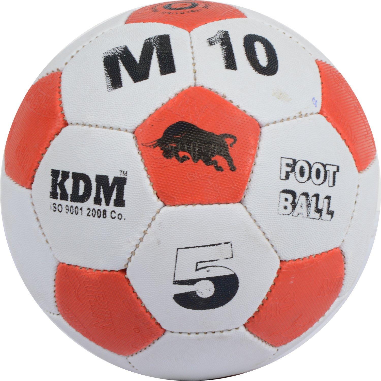KDM M 10 Rubber Football, Size- 5 (Multi-Coloured)