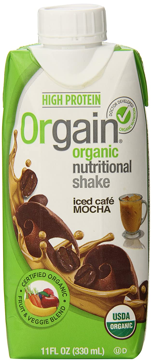 Orgain Iced Caf Mocha, 11-Ounce (Pack of 12)