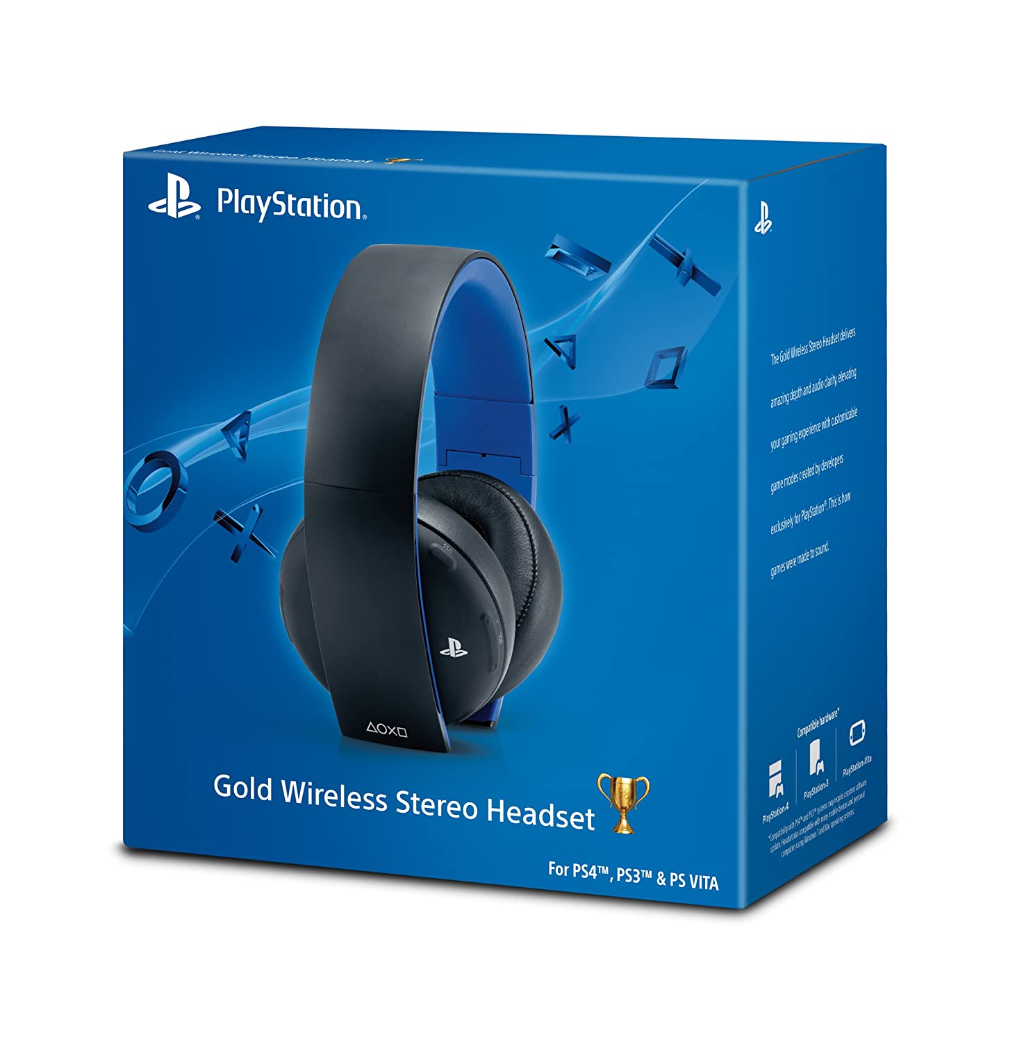 PlayStation Silver Wired Stereo Headset vs. Gold Wireless Stereo ...