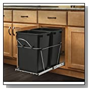 Rev-A-Shelf Double 35 Qt. Trash Containers