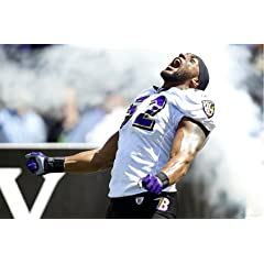 NFL Baltimore Ravens Ray Lewis Making an Entrance In Your Face Mural Wall Graphic
