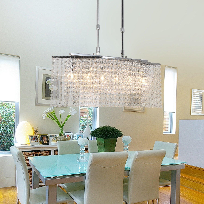 OOFAY LIGHT® Upscale und elegante Kristall-Lampen Wohnzimmer Kronleuchter Schlafzimmer sechs ...