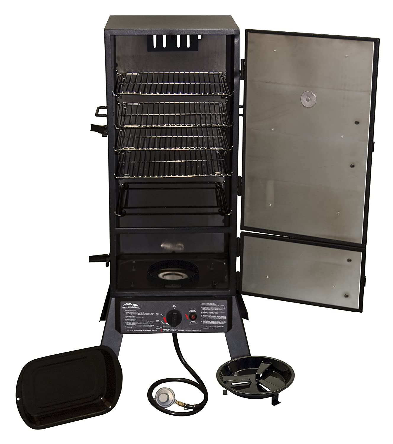 Stainess gas smoker